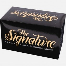 The Signature Black Surgical Masks (50)
