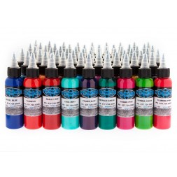 60 Colour set 30ml (1oz)  Fusion Tattoo Ink